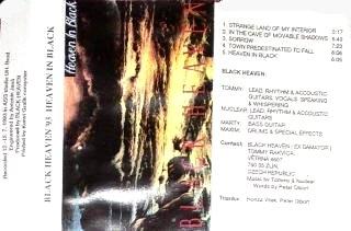 BLACK HEAVEN - Heaven In Black (MC-1993)