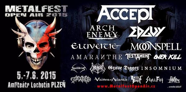 METALFEST OPEN AIR - 5. - 7. červen 2015, Plzeň, Amfiteátr Lochotín