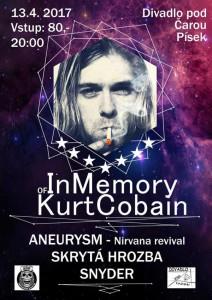Plakát Kurt Cobain Písek 2